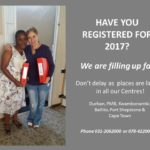 REGISTRATIONS for 2017